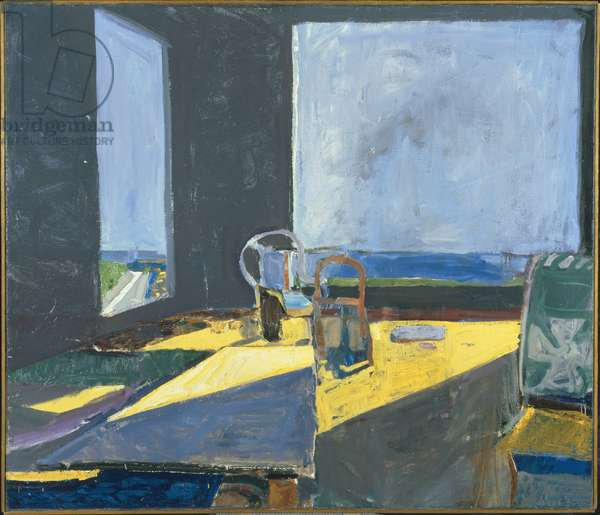 Interior with View of the Ocean, 1957 (oil on canvas)