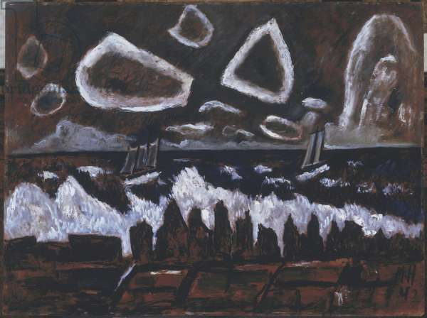 Off the Banks at Night, 1942 (oil on hardboard)