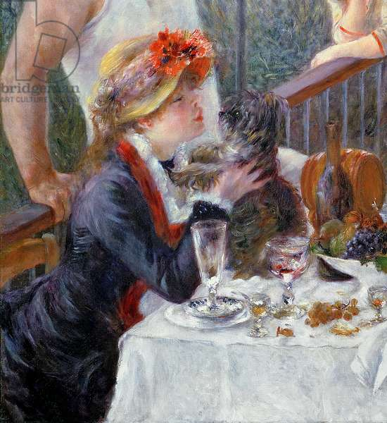The Luncheon of the Boating Party, 1881 (oil on canvas) (detail of 438983)