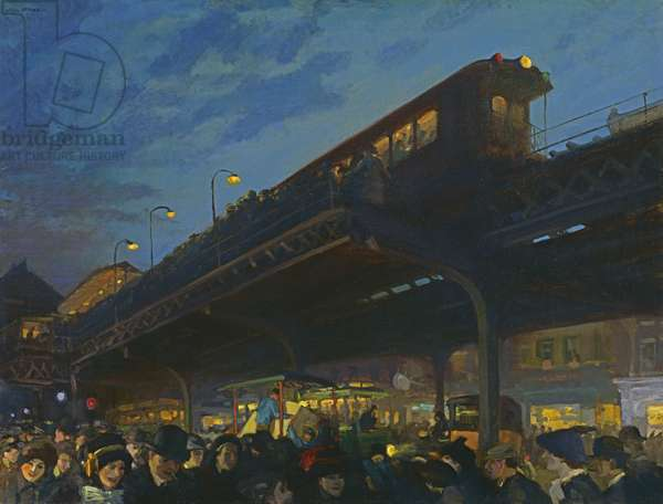 Six O'Clock, Winter, 1912 (oil on canvas)