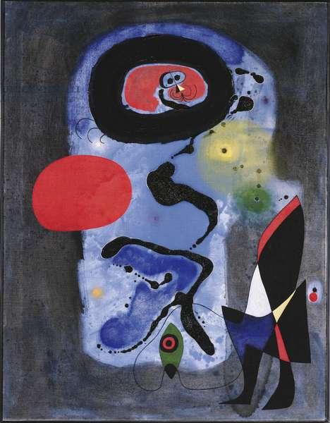 The Red Sun, 1948 (oil & gouache on canvas)
