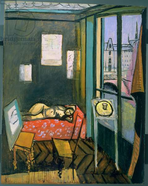 Studio, Quai Saint-Michel, 1916 (oil on canvas)