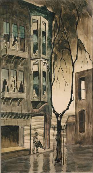 Three Days Rain, c.1918 (w/c & pencil on paper)