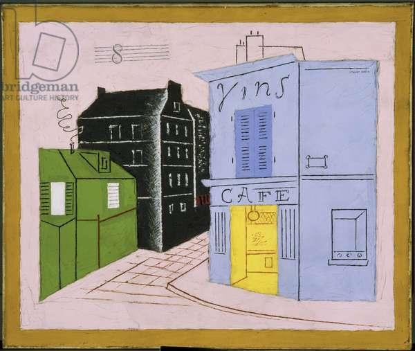 Blue Cafe, 1928 (oil on canvas)