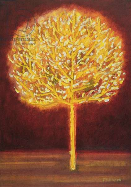 Blossoming Tree, 1997 (oil on paper)