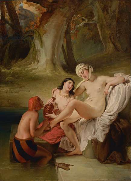 Bathsheba at her bath, 1841 (oil on panel)