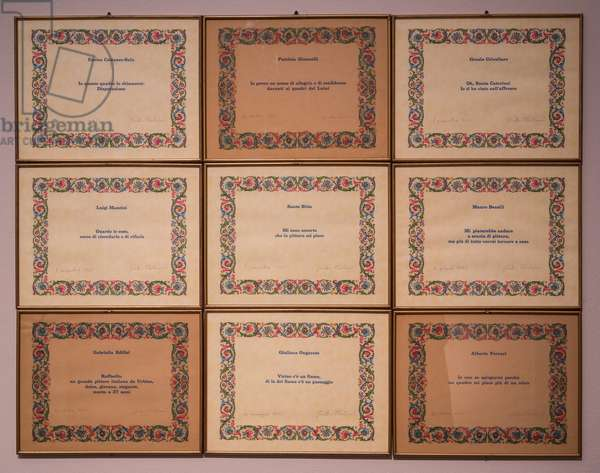 Athenaeum, 1971-73 (inscriptions in pencil on printed diplomas)