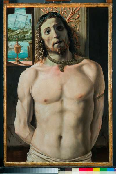 Christ Tied to the Column, 1490-99 (oil on board)