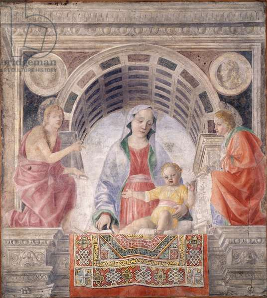 Madonna and Child and Saints John the Baptist and Joavnni Evangelista, 1485 (detached fresco carried on canvas)