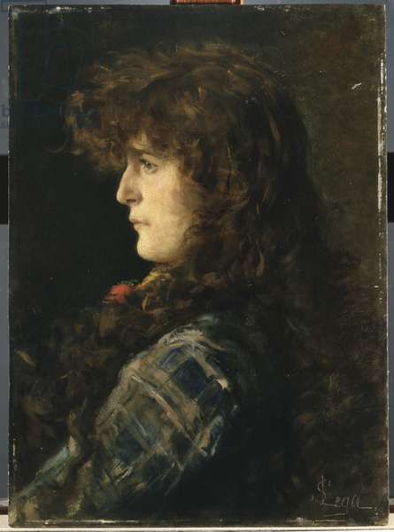 Head of Woman or Gabbrigiana, 1885 (oil on panel)