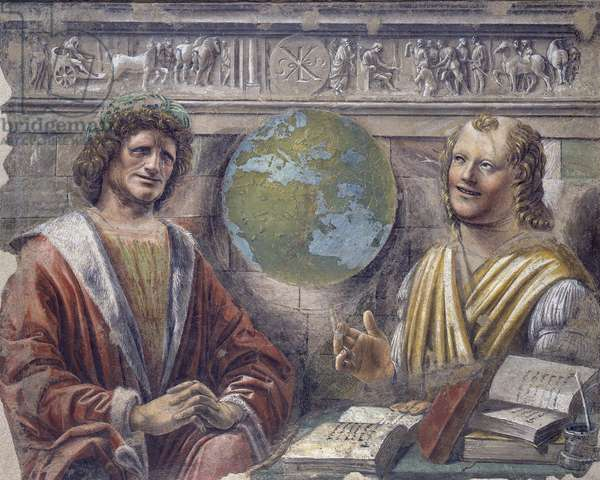 Heraclitus and Democritus, c.1486 (detached fresco carried on canvas)