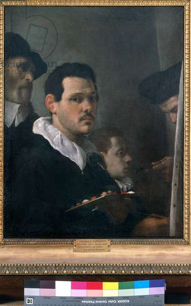 Self-prtrait with other figures, c.1593 (oil on canvas)