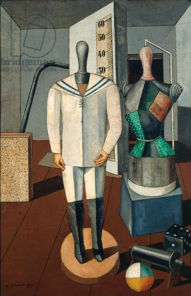 Mother and Son, 1917 (oil on canvas)