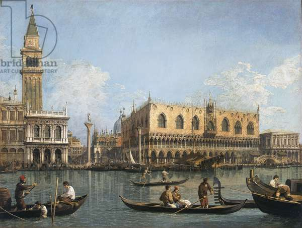 View of the basin of San Marco from the Punta della Dogana, 1740-45 (oil on canvas)