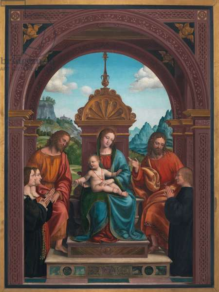 Madonna and Child, St. James, St. Philip and the Family of Antonio Busti, 1515-18 (oil on panel)