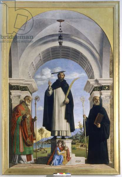 Saint Peter Martyr with Saints Nicholas and Benedict, 1505-06 (oil on panel)