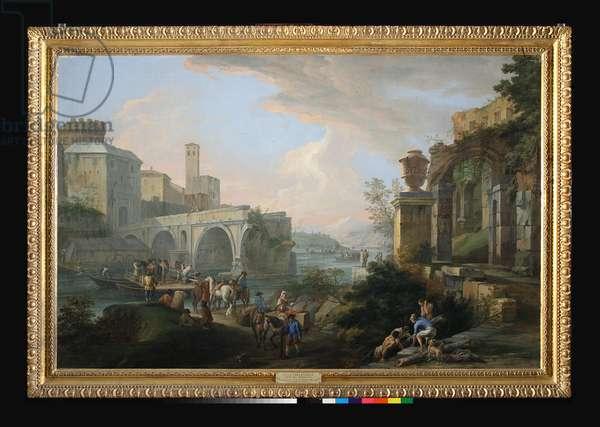 Capriccio with the Ponte Rotto, c.1714 (oil on canvas)