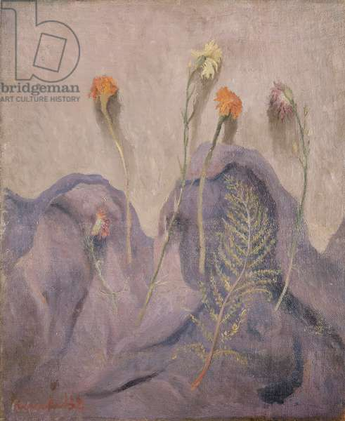 Dried flowers, 1932 (oil on canvas)