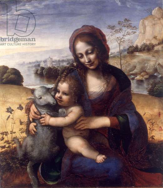 Madonna and Child with a Lamb, 1502-05 (oil on panel)