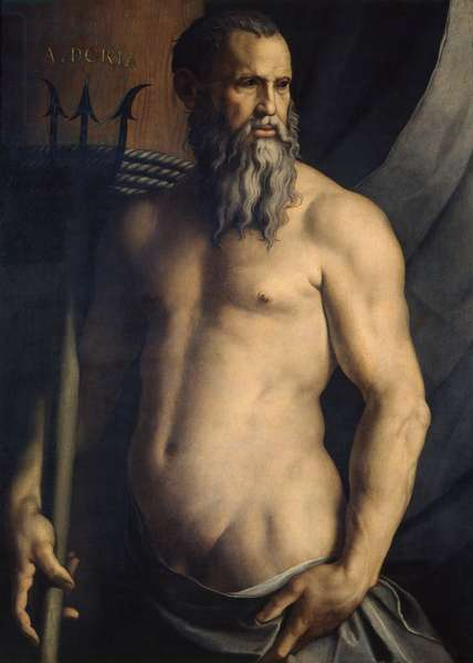 Portrait of Andrea Doria as Neptune, 1545-46 (oil on canvas)