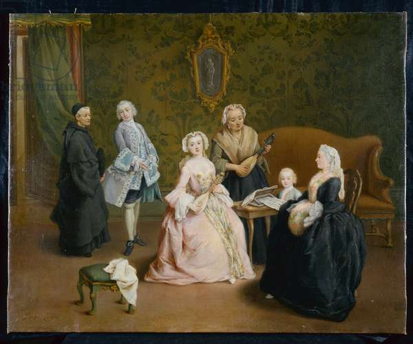 The family concert , 1750-55 (oil on canvas)