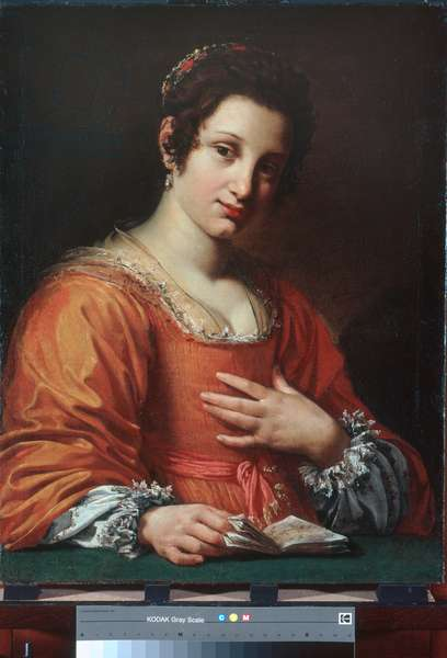 Portrait of a young lady, 1620-21 (oil on canvas)