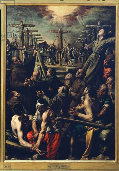 The martyrdom of Franciscan Friars in Nagasaki, c.1627 (oil on canvas)