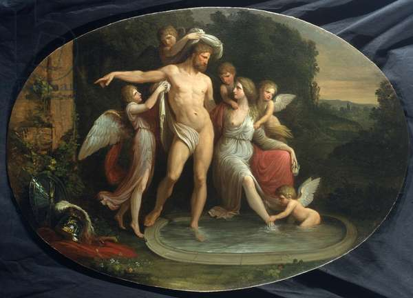 The diversions of Venus and Mars, 1790 (oil on canvas)