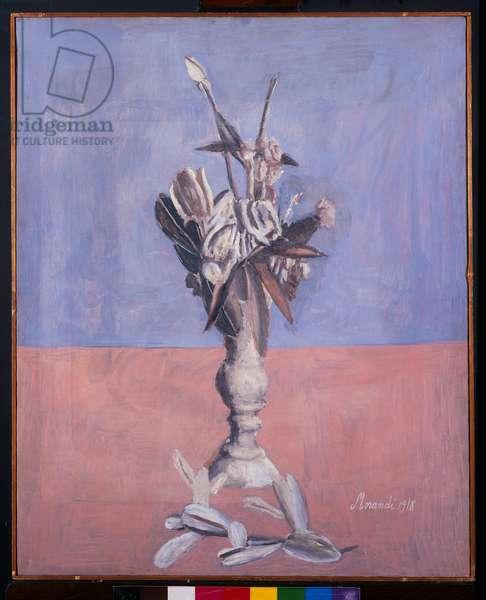 Flowers, 1918 (oil on canvas)