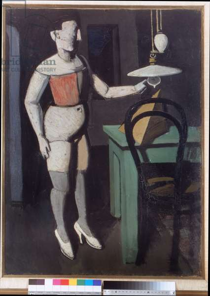The lamp, 1919 (oil on paper)