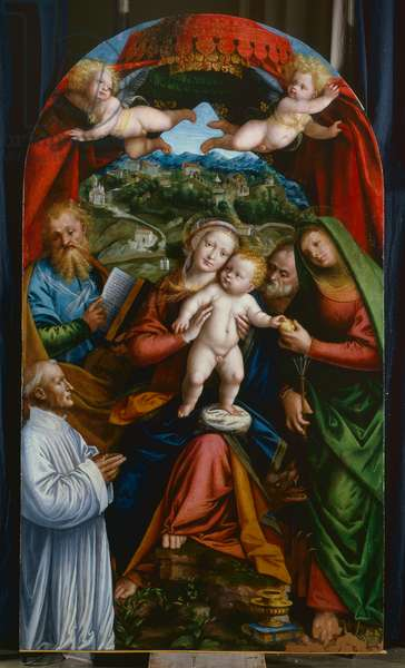 Madonna and Child and St Martha, St James, St Joseph and a donor, c.1543 (oil on panel)