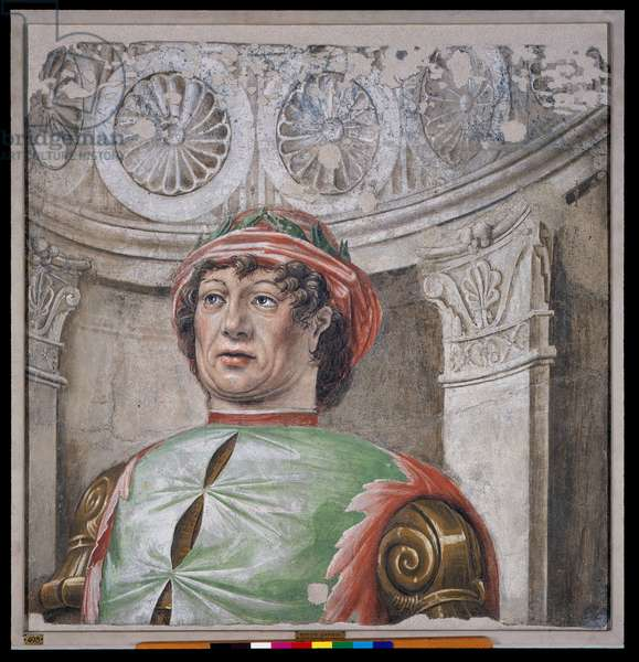 Poet laureate with red hat, 1490-92 (detached fresco mounted on canvas)
