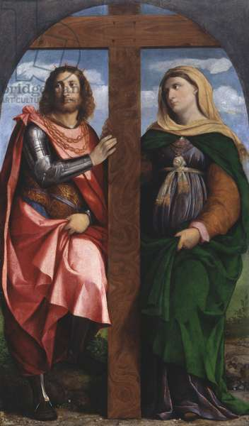 St. Helen and St. Constantine, 1520-22 (oil on panel)