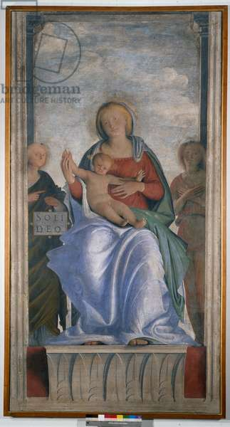 Madonna and Child and Two Angels, 1509-12 (detached fresco mounted on canvas)