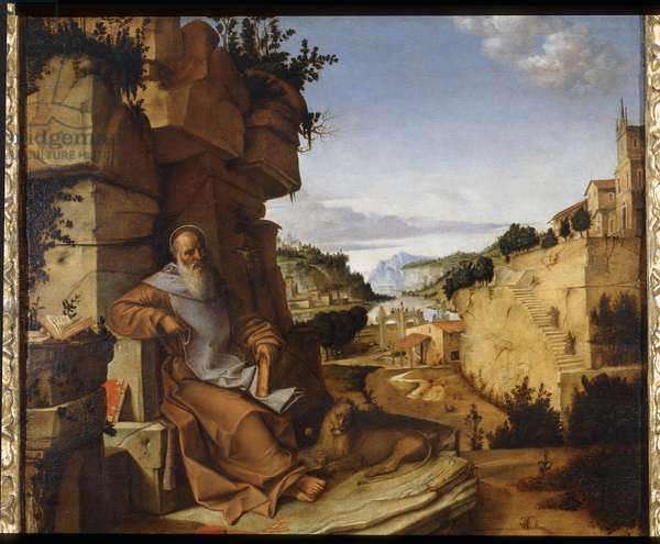 Saint Jerome in the desert, 1500-02 (oil on board)
