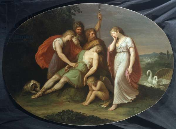 The death of Adonis, 1790 (oil on canvas)