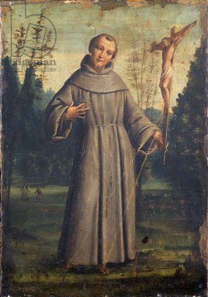 Saint Francis of Assisi, c.1545 (oil on panel mounted on canvas)