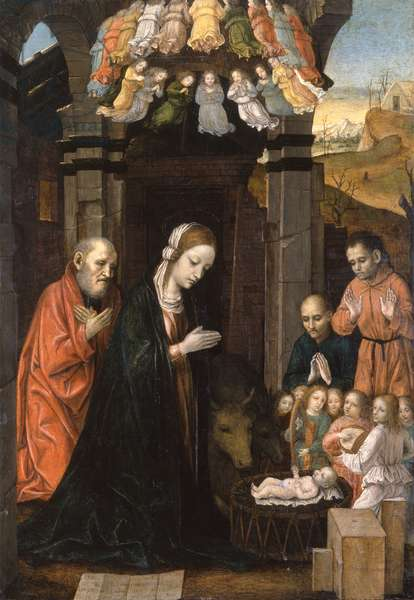 Adoration of the Shepherds, 1480-85 (oil on panel)