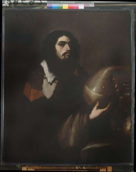 Self-portrait as a chemical or alchimist , c.1660 (oil on canvas)