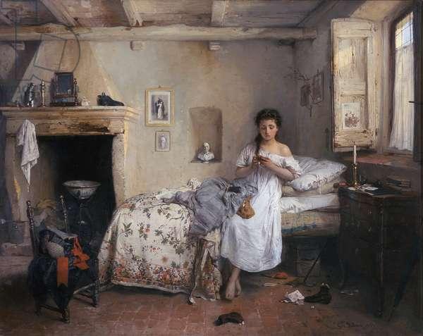 Doleful premonition, 1862 (oil on canvas)