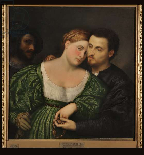 The lovers, 1525-30 (oil on canvas)