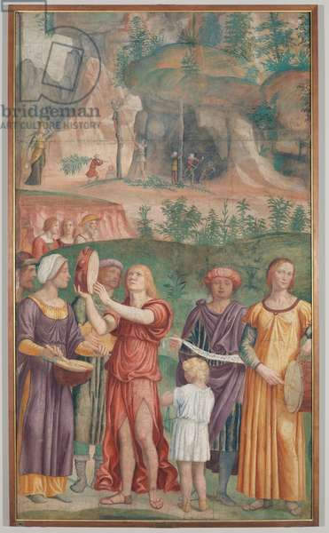 The triumph song of the Jews, c.1514 (detached fresco carried on canvas)