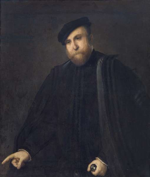 Portrait of Gentleman, 1543-45 (oil on canvas)