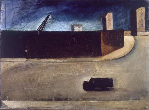 Urban Landscape with Truck, 1919-20 (oil on canvas)