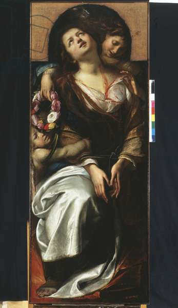 St. Cecilia with two angels, 1620-25 (oil on canvas)