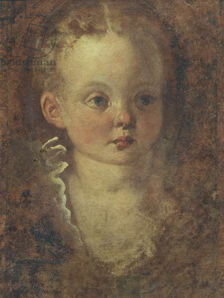 Bust of a girl (verso), c.1588-90 (oil on canvasboard)