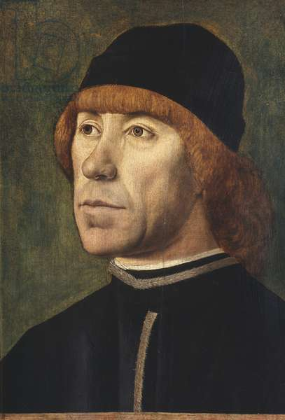 Portrait of a man, 1480-89 (oil on panel)