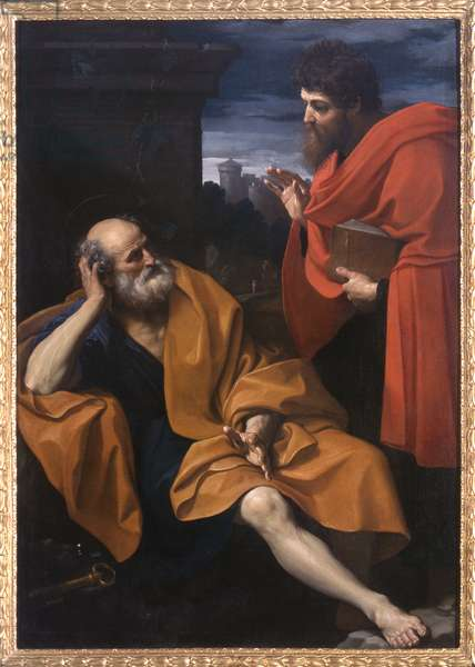 Paul Rebukes the Repentant Peter, 1603-04 (oil on canvas)