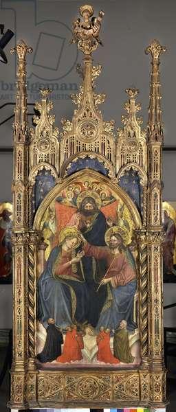 Coronation of the Virgin, c.1400 (tempera su tavola)