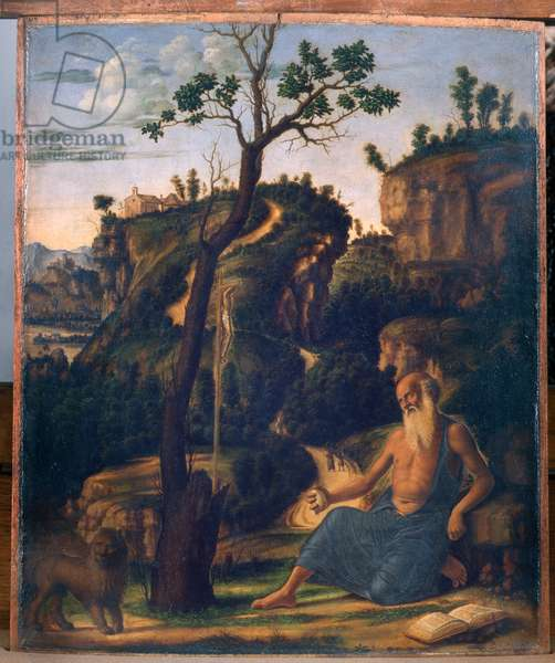 Saint Jerome in the desert, 1493-94 (oil on panel)